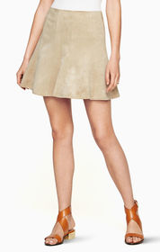 BCBG Nicky Faux-Suede Skirt