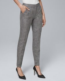 Textured Suiting Slim Ankle Pants