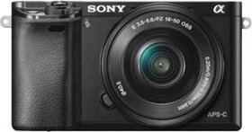 Sony - Alpha a6000 Mirrorless Camera with 16-50mm