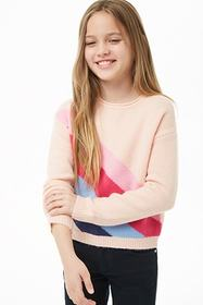 Forever21 Girls Colorblock Striped Sweater (Kids)