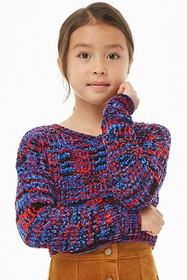 Forever21 Girls Colorful Chenille Sweater (Kids)