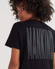 7 For All Mankind Mankind Baby Tee with Puff Print