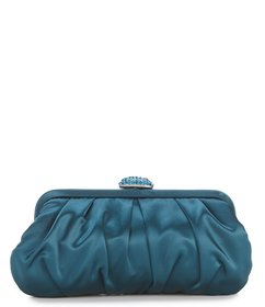 Nina Pleated Frame Satin Clutch