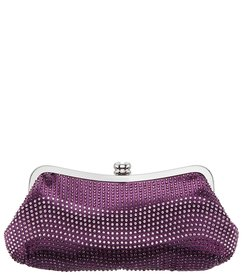 Nina Crystal Wave Frame Clutch