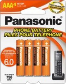 Panasonic - Rechargeable AAA Batteries (4-Pack)