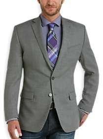 Calvin Klein Taupe Check Slim Fit Sport Coat
