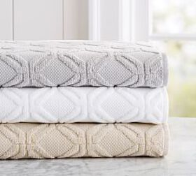 Pottery Barn Blakely Sculpted Hydrocotton Towels