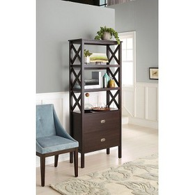 """72"""" 3-Shelf X-Bookcase with Drawers - Threshold&#1"""