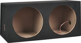 "Metra - 10"" Dual Sealed Subwoofer Enclosure - Char"