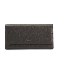 T TAHARI Exterior And Interior Leather Wallet