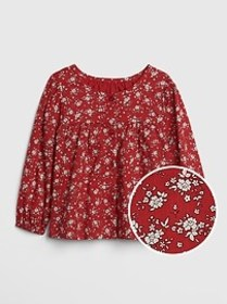Floral Shirred Top