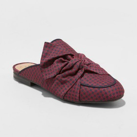 Women's Natalee Bow Backless Mules - A New Day&#15