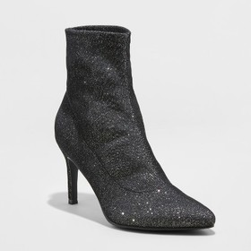 Women's Cady Pointed Stiletto Sock Booties - A New
