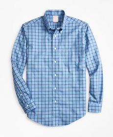 Brooks Brothers Non-Iron Madison Fit Blue Check Sp