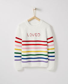 Hanna Andersson Be Loved Stripe Sweater