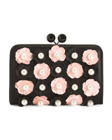 NINA Floral And Pearl Evening Crossbody
