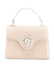 NINA Satin Lady Bag With Pearl Ornament