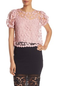 French Connection Caballo Floral Lace Crop Top