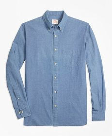 Brooks Brothers Indigo-Dyed Micro-Check Cotton Twi