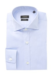 Ermenegildo Zegna Solid Trim Fit Dress Shirt