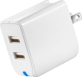 Insignia™ - 2-Port USB Wall Charger - White