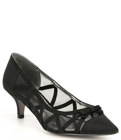 Adrianna Papell Lana Fabric and Mesh Pumps
