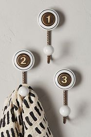 Anthropologie Cachet Numeral Hook