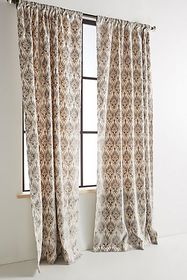 Anthropologie Embroidered Sia Curtain