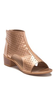 Nicole Miller Briel Perforated Block Heel Sandal (