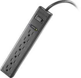 Insignia™ - 6-Outlet Surge Protector Strip - Black
