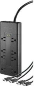 Insignia™ - 8-Outlet Surge Protector with Two 8' 4
