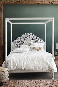Anthropologie Suzani Four-Poster Bed