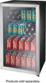 Insignia™ - 115-Can Beverage Cooler - Stainless st