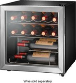 Insignia™ - 14-Bottle Wine Cooler - Stainless stee