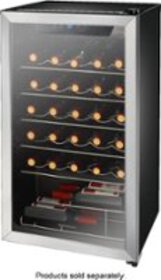 Insignia™ - 29-Bottle Wine Cooler - Stainless stee