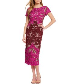 JS Collections Soutache Embroidered Overlay Midi D