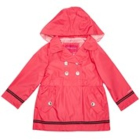 LONDON FOG Toddler Girls Hooded Double-Breasted Ra