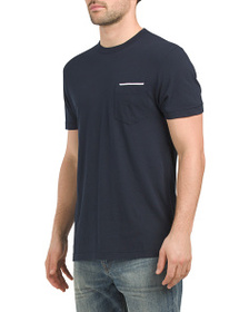 FRENCH CONNECTION Tipped Pocket Tee