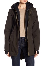 French Connection Dickey Layered Hoodie Coat
