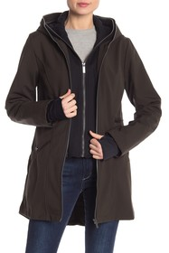 French Connection Double Front Zip Hooded Jacket