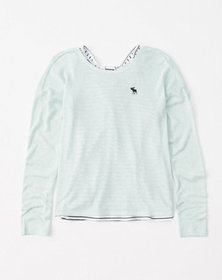 back-detail pullover, mint green