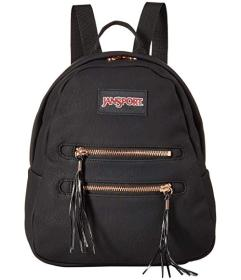 JanSport Black/Rose Gold Tassel