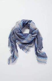 Plaid Textured Square Scarf