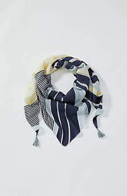 Mixed-Stripes Triangle Scarf