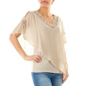 Gauze & Lace Popover Top