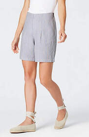 Linen & Rayon Striped Shorts