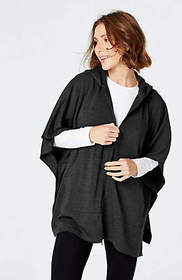 Fit At Ease Zip-Front Poncho