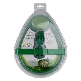Squish 5pc Collapsible Salad Set Green