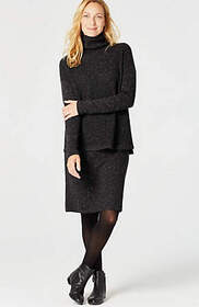 Alyssa Sweater-Knit Pencil Skirt