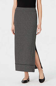 Wearever Printed Piped Maxi Skirt